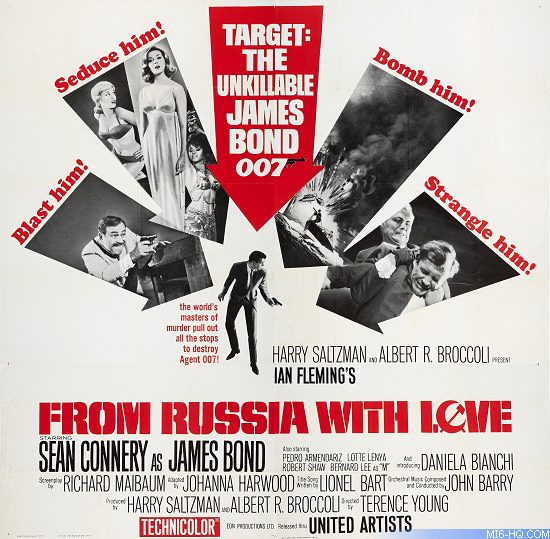 From Russia With Love release poster