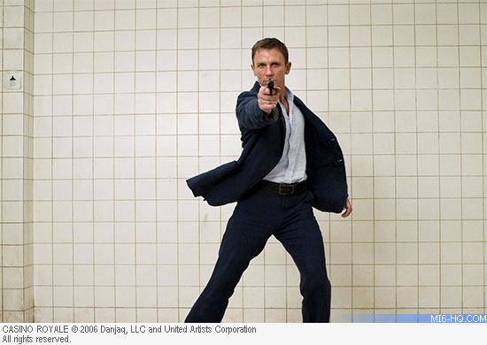 Daniel Craig in the pretitles sequence for Casino Royale