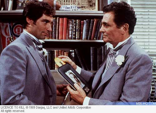 David Hedison and Timothy Dalton in Licence To Kill