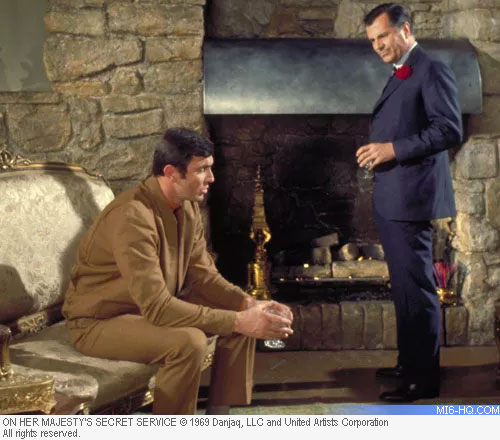 Bond drinks a Martini with Marc-Ange Draco