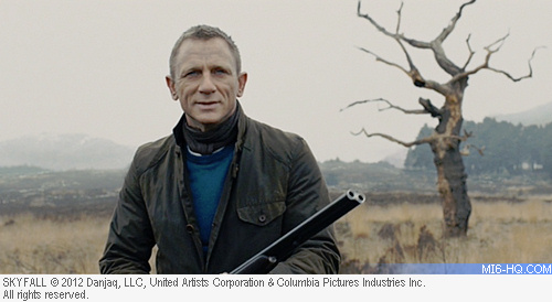 Daniel Craig as James Bond wearing N. Peal sweater