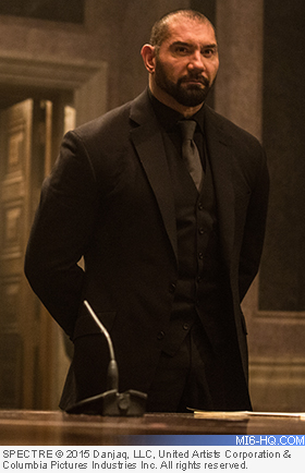 Dave Bautista in SPECTRE as Mr Hinx