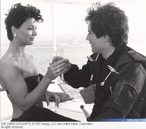 James Bond toasting a wonderful new relationship
