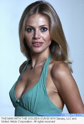 Britt Ekland as Mary Goodnight in The Man With The Golden Gun