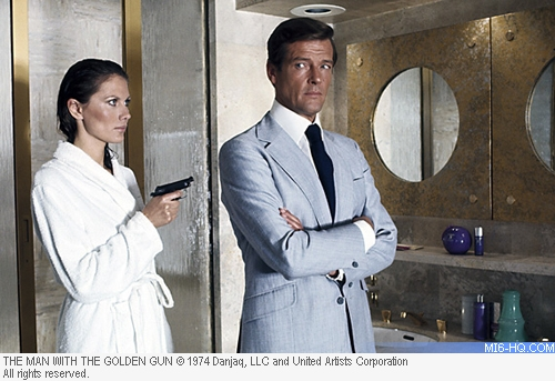 James Bond and Andrea Anders in The Man With The Golden Gun
