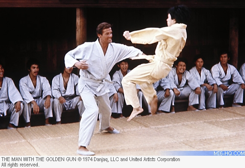 High kicks with Roger Moore