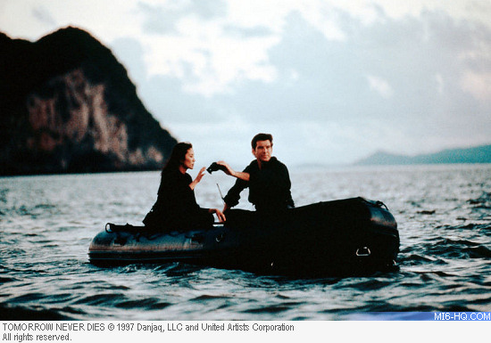 Tomorrow Never Dies production still