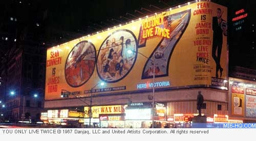 You Only Live Twice billboard New York City
