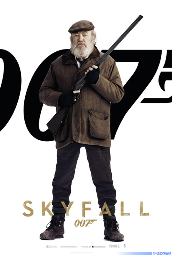 Albert Finney as Kincade in the 2012 James Bond film Skyfall
