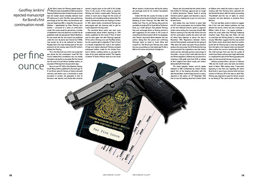 Per Fine Ounce in MI6 Confidential Magazinbe