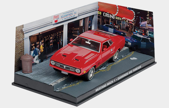 Bond in Motion Bond magazine features Tiffany Case's Mustang from Diamonds are Forever