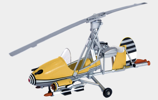 Bond in Motion Bond magazine features Little Nellie Gyrocopter from You Only Live Twice