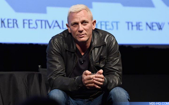 Daniel Craig talks at the New Yorker Festival