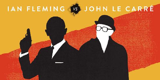 Poster art for Fleming vs Le Carre debate in London