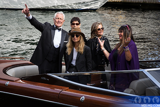 James Bond George Lazenby in Oslo arrives by boat