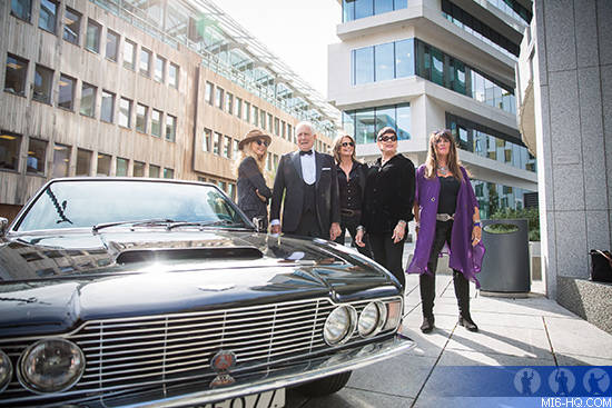 James Bond George Lazenby with Aston Martin's 1969 DBS