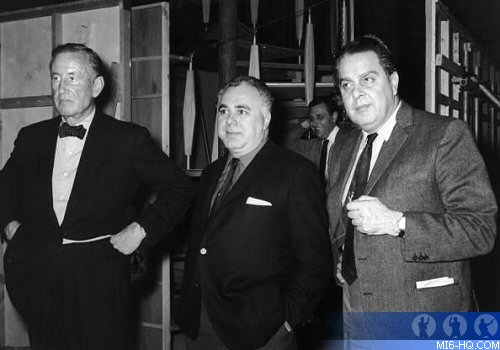 Ian Fleming, Harry Saltzman and Cubby Broccoli