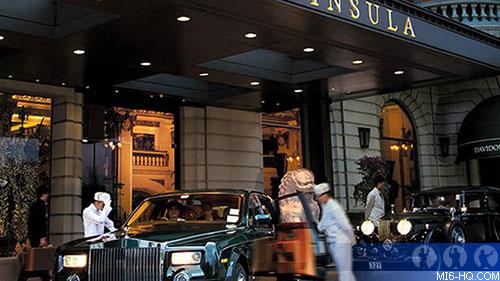 Enterenceway at the Peninsula Hotel, Hong Kong
