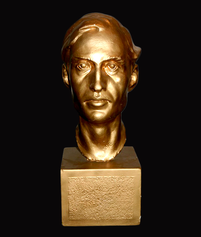 Bust of the author that featured on the cover of The Life of Ian Fleming