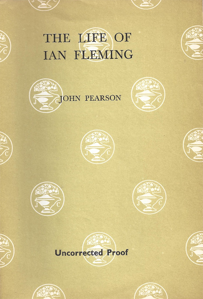 The Life of Ian Fleming uncorrected proof