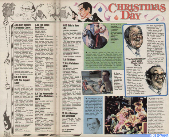 ITV Christmas 1978 Diamonds Are Forever TV Times