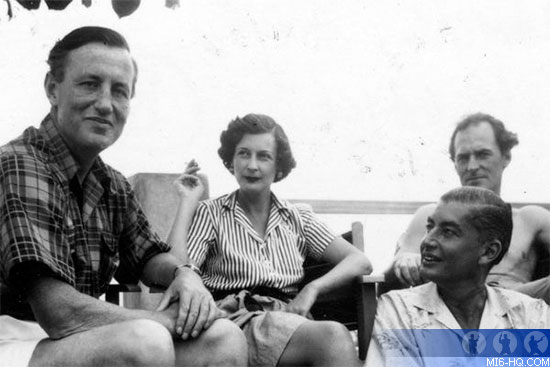 Ian Fleming, Ann Fleming and Ivar Bryce