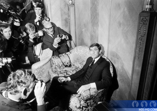 George Lazenby introduced as the new James Bond at the Dorchest Hotel on October 7th, 1968