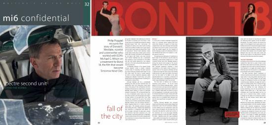 Donald E. Westlake's Bond 18 treatments in MI6 Confidential magazine