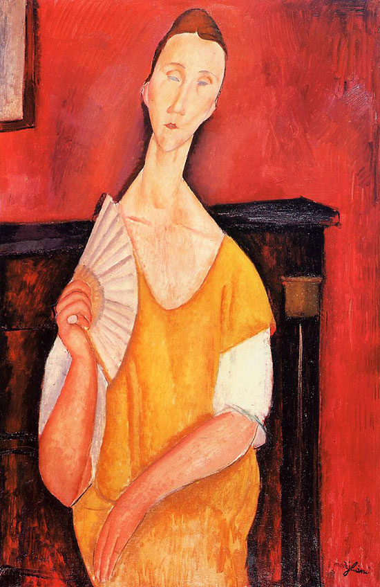 Woman with a Fan (Lunia Czechowska), 1919 - Amedeo Modigliani