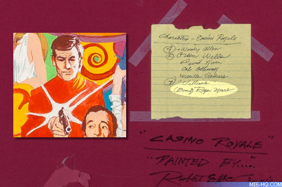 Robert McGinnis Casino Royale DVD cover artwork