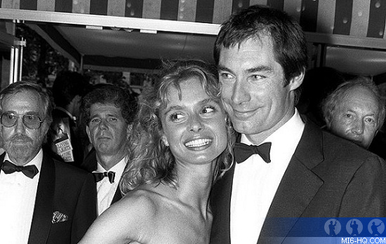 Timothy Dalton and Maryam dAbo at The Living Daylights world premiere on June 29th 1987