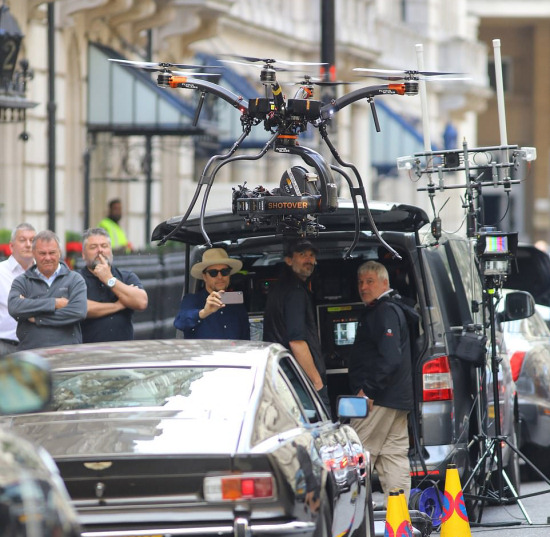 James Bond 25 Whitehall London filming